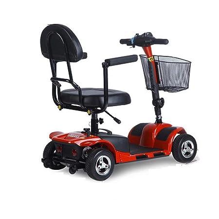 wheelchair Patinete eléctrico de Cuatro Ruedas Plegable para ...