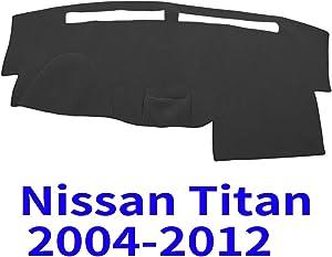JIAKANUO Auto Car Dashboard Carpet Dash Board Cover Mat Fit for Nissan Titan 2004 2005 2006 2007 2008 2009 2010 2011 2012 (Black)(MR-030)