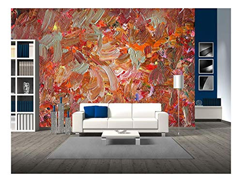 wall26 - Analog Painted Background Texture - Brushstrokes - Removable Wall Mural | Self-Adhesive Large Wallpaper - 100x144 inches