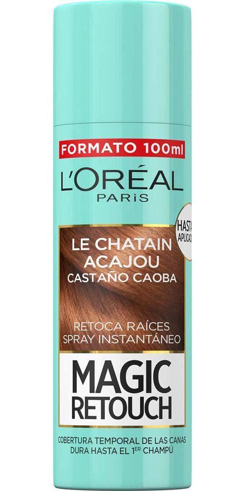 LOréal Paris Magic Retouch Spray Retoca Raíces y Canas, Castaño Caoba - 100 ml