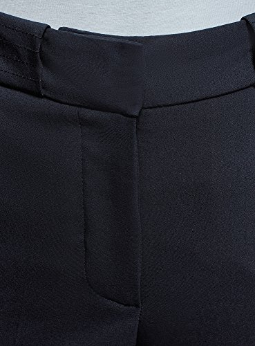 oodji Donna con Aderenti Piega Pantaloni 7900n Blu Collection r57qO4r