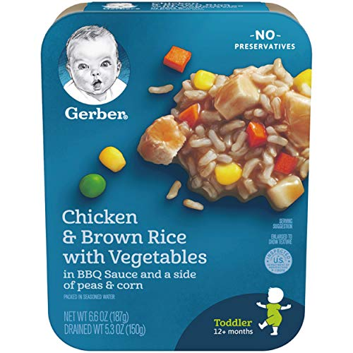 Gerber Graduates Chicken BBQ with Brown Rice, 6.6-Ounce (Pack of -