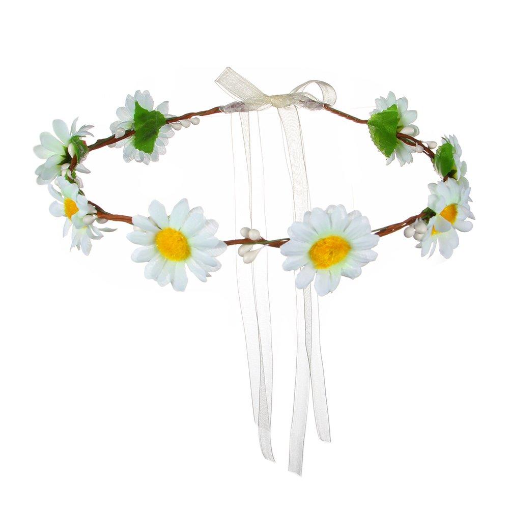 Buy Valdler Exquisite Simple Little Daisy Flower Wreath Headband