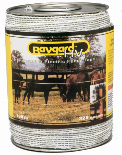 Baygard Electric Fence White Tape - 328 Feet 00692