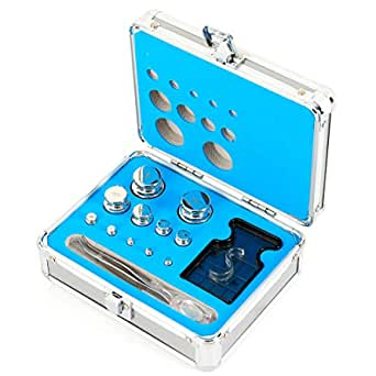 CNCEST Precision Weight Stainless Steel Calibration Weight Kit Set Class F1 for Balance Scale 1mg-200g