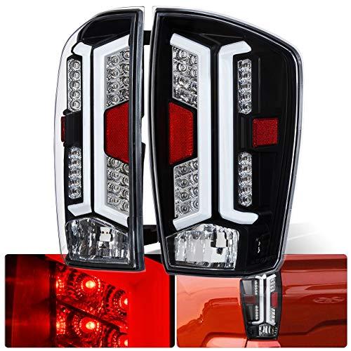 Black Housing Clear Lens LED White Bar Tail Lights For 2016 2017 2018 2019 16 17 18 19 Toyota - 18 Motor Tail