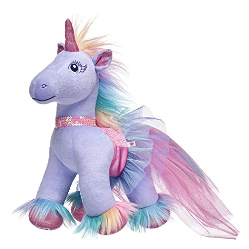 p Enchanted Pastel Plush Unicorn & Sequin Dress Gift Set ()