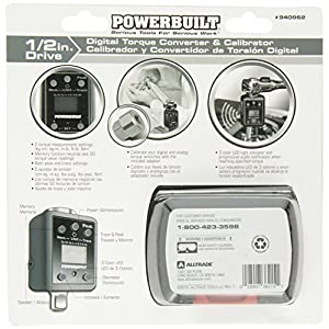 "Powerbuilt 940962 1/2"" Drive Digital Torque Adapter, 29 to 147 ft-lbs"