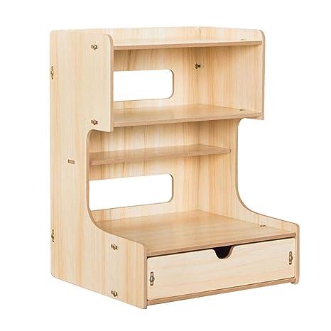 Archivadores HUXIUPING Storage Box Office Desktop Folder Creativo File Holder Data Rack Wooden Telephone Rack con