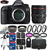 Canon EOS 5DS 50.6 Megapixel DSLR Camera with EF 24-70mm f/4.0L IS USM Lens with 48GB in SDHC Memory & Accessory Bundle (19 Items) - International Version (No Warranty)