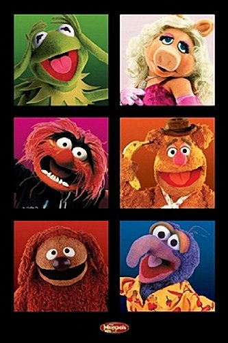 MUPPETS POSTER - FUNNY CHARACTERS CAST - NEW HOT 24X36