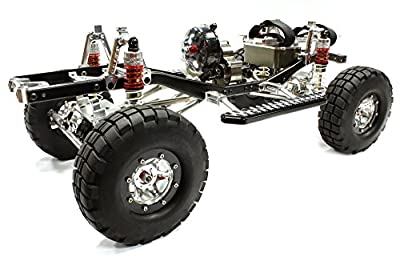 Integy Hobby RC Model C25404SILVERBLACKT2 Machined 1/10 Limited Edition 4WS Trail Roller 4WD Off-Road Scale Crawler ARTR