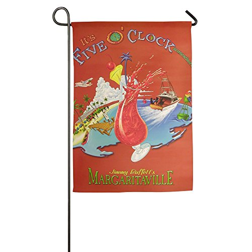 Garden Flag Yard Decorations - It's Five O'clock Somewhere Flag For Outdoor Use,100% Waterproof Polyester Flags 5 Oclock Somewhere Flag