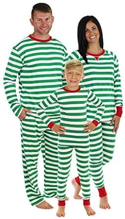 Sleepyheads Green Stripe Family Matching Pajama Set - Kids - All Over (SHM-3008-K-2T)