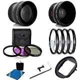 Deluxe Lens Kit For Gopro Hero4 Hero3+ Camera 52MM 2X Professional Telephoto Lens With High Definition 52MM Wide Angle Lens + Close-Up Macro Filter Set (+1 +2 +4 +10) With 3 PC Filter Kit UV CPL FLD Adapter 52mm For GoPro Hero4 Hero3+ Black Silver White Camcorder With PHoto4less Microfiber Cleaning Cloth Top Bundle