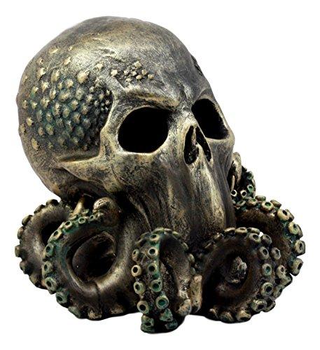 Ebros Ocean Monster Terror Kraken Cthulhu Skull Figurine 6 H Mythical Sea Relic Giant Octopus Skull Statue