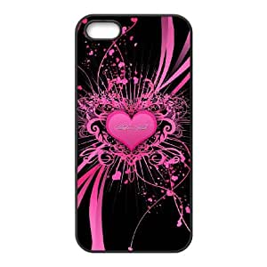 KSDHPNECASE Diy Hard Customized case Of Love Pink For iPhone 5,5S