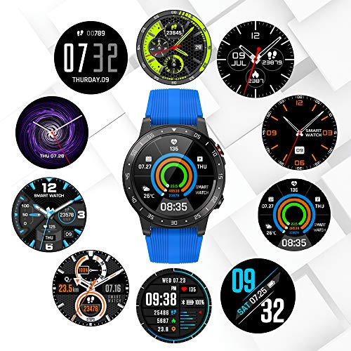 Anmino GPS Smart Watch (GPS +Barometer+Altimeter+Compass),Full HD Touchscreen,All-Day Heart Rate and Activity Fitness Tracker,Pedometer,Calorie Counter,Sleep Tracker,Bluetooth smartwatch