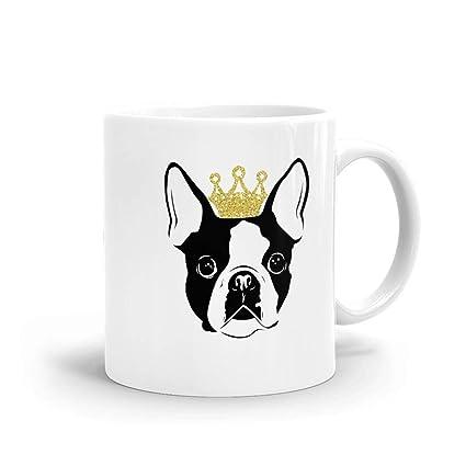 Amazon Boston Terrier With Crown Handmade Funny 11 Oz Mug Best