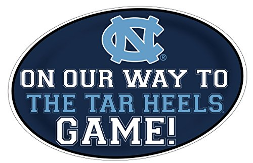 UNC TAR HEELS HEADING TO THE GAME STICKER-UNIVERSITY OF NORTH CAROLINA DECAL 11X17 INCH JUMBO PEEL AND STICK