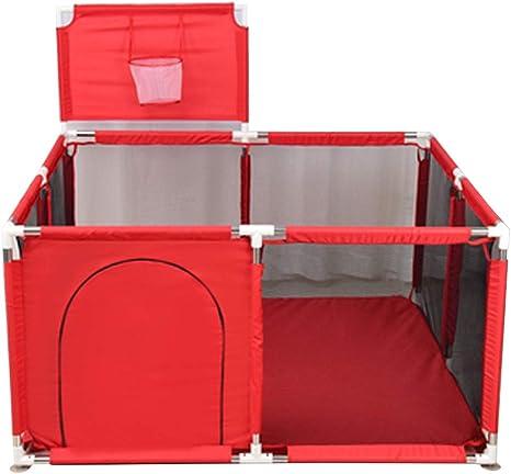 B/ällebad-Zelt Laufstall f/ür Kleinkinder faltbares Baby-Spielzaun 124 cm Durchmesser drinnen und drau/ßen Kinder mit Tragetasche Tragbares atmungsaktives sichtbares Netz und Metallrahmen