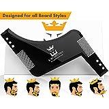 PILPOC K-BEARD Beard Shaping Tool, Beard Shaper & Beard Comb, Premium Quality Beard Template Tool with Printed Instruction Guide and E-Book, K-BEARD PRO