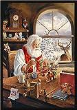 "Milliken Holiday Collection Santa Gift Area Rug, 3'10"" x 5'4″, Workshop"