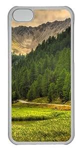 Customized Case landscapes nature 80 PC Transparent for Apple iPhone 5C