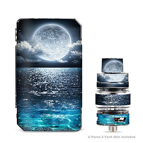(IT'S A SKIN Decal Vinyl Wrap for VooPoo Drag Mini & UForce T2 Tank Vape Sticker Sleeve Cover/Giant Moon Over The Ocean)