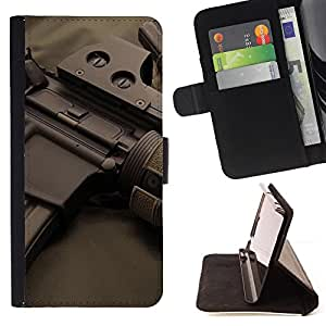 DEVIL CASE - FOR LG G3 - Assault rifles - Style PU Leather Case Wallet Flip Stand Flap Closure Cover