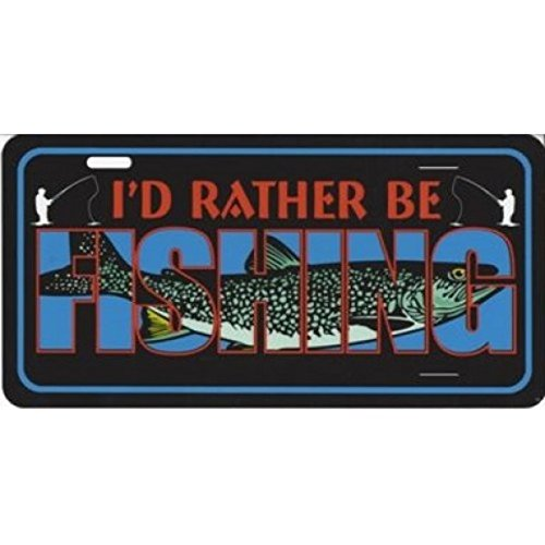 I'd Rather Be Fishing Photo License Plate License Plates Online