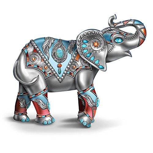 - The Hamilton Collection Southwestern-Style Elephant Figurine with Metallic Finishes & Over 20 Faux Gems