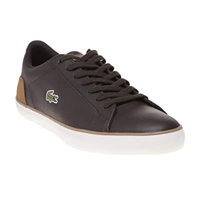 62d1890fe Lacoste Lerond 118 1 Cam Trainers in Dark   Light Brown 735CAM0074 489   Amazon.co.uk  Shoes   Bags