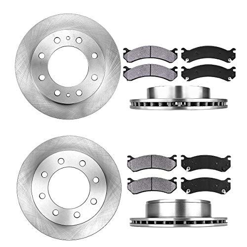FRONT 325 mm + REAR 330 mm Premium OE 8 Lug [4] Rotors + [8] Metallic Brake -