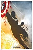 Captain America 2: The Winter Soldier - Movie Poster (Teaser) (Size: 24'' x 36'')