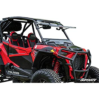 SuperATV Heavy Duty Standard Polycarbonate 3-IN-1 Flip Windshield for Polaris RZR XP
