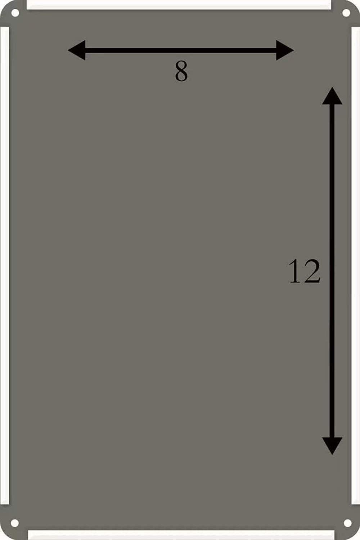 Poster r/étro Vintage 20,3 x 30,5 cm Garage TammieLove Boss Plaque en m/étal Humoristique pour Bar caf/é d/écoration Murale de la Maison Diner pub