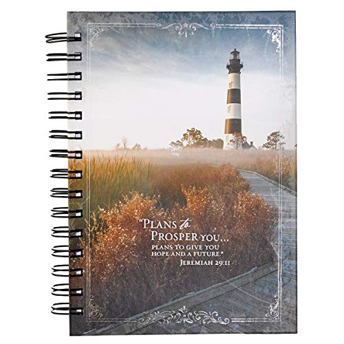 Jeremiah 29:11 Outer Banks Lighthouse Hardcover Wirebound Journal