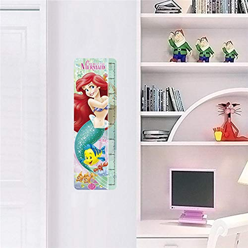 (3D Wall Stickers Cartoon Princess Growth Chart Wall Stickers Home Decor Kids Height Measure Decals Zyyanaes)