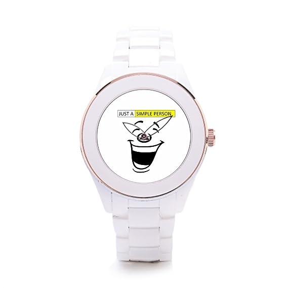 404bf1787ab7 Algunos diferentes hombres de cerámica de color blanco reloj de pulsera   Amazon.es  Relojes