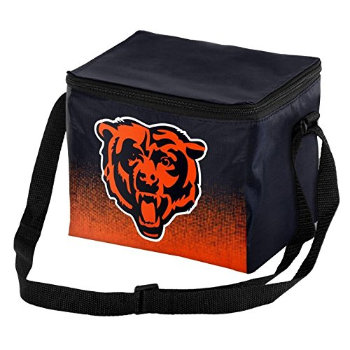 Chicago Bears Accessories (Forever Collectibles NFL Unisex Gradient Print Lunch Bag Coolergradient Print Lunch Bag Cooler, Chicago Bears, Standard)