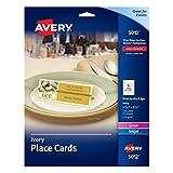 AVERY Ivory Place Cards, Laser/Inkjet