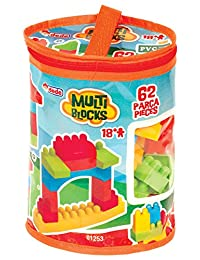 KIDZSTORES Multi Blocks 62 Pcs,Building set for kids BOBEBE Online Baby Store From New York to Miami and Los Angeles