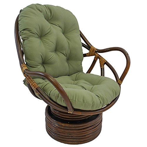 Tufted Twill 48-inch Swivel Rocker Cushion (Cushion Only) (Sage)