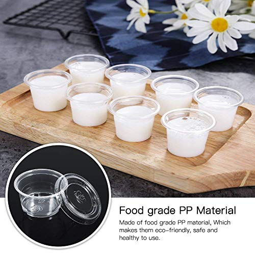 2fb3a83e4fb0 Yosoo Bulk Disposable Plastic Chutney Cups with Lids Food Container ...