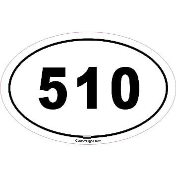 Amazoncom Area Code Bumper Sticker For Car Automotive - 510 area code