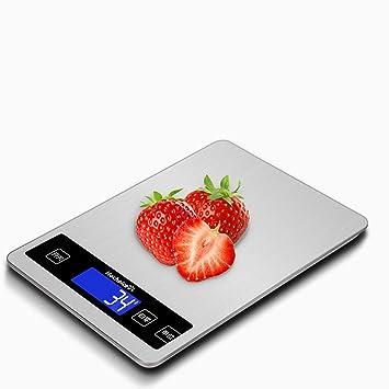 Cucsaist Báscula Digital Báscula Electrónica Báscula De Cocina Pesaje Grande Balanza Electrónica De Acero Inoxidable Báscula