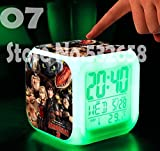 How to Train Your Dragon Alarm Clock Digital Action Toy Figures Thermometer Night Colorful Glowing Toys (Style 7)