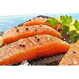 7 X 6 Oz. (2.63 Lb.) Premium Fresh Atlantic Salmon Portions, Individually Vacuum Packed, Ready to Cook.