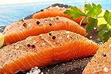 25 X 6 Oz. (9.4Lb) Premium Fresh Atlantic Salmon Portions, Individually Vacuum Packed, Ready to Cook.